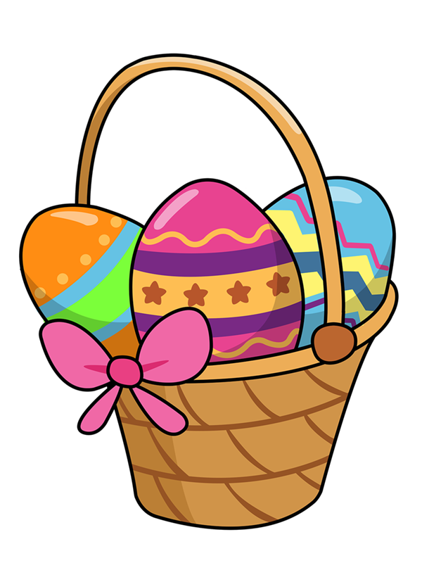 Cute Easter Basket Clipart #1