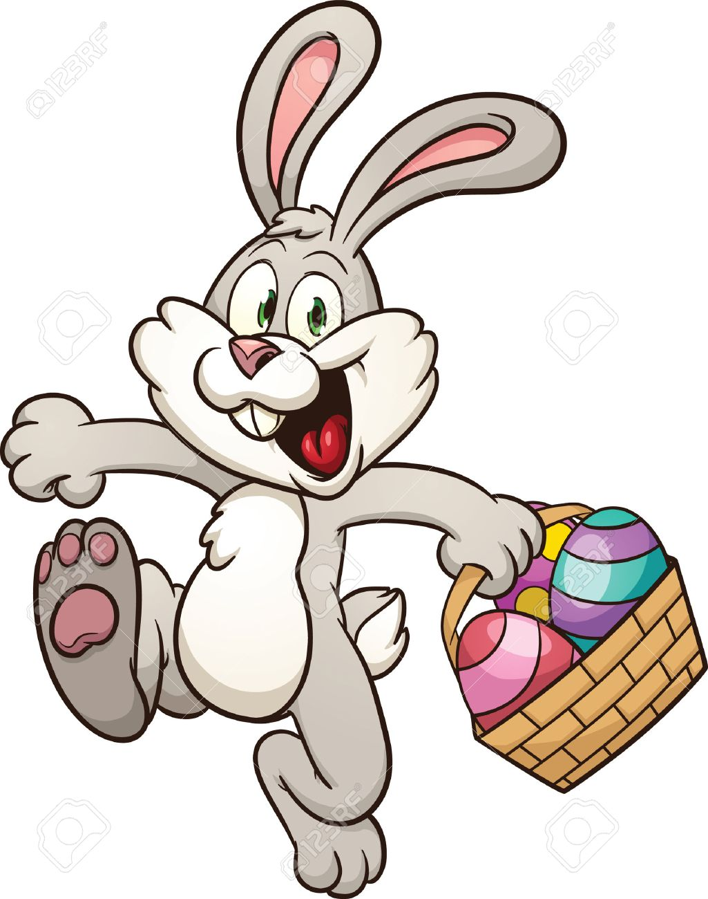 Easter Basket Bunny Clipart bunny holding