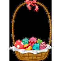Easter Basket Bunny Png Image PNG Image