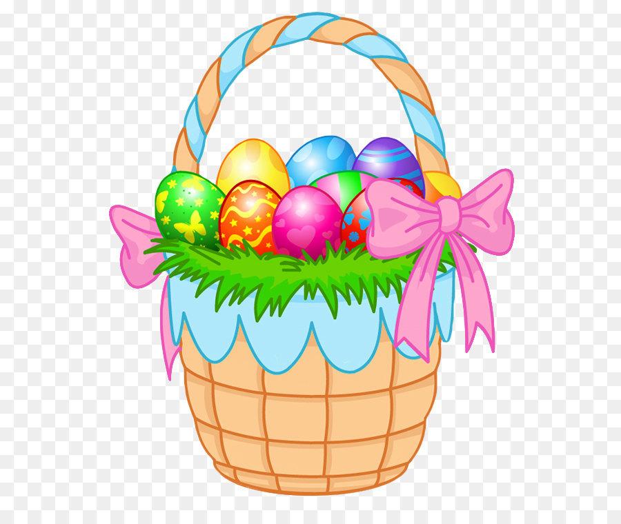 Easter Bunny Easter egg Easter basket Clip art - Transparent Easter Basket  PNG Clipart Picture