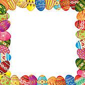 Easter border u0026middot; Easter eggs frame