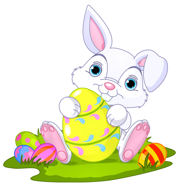 Easter bunny happy easter clip