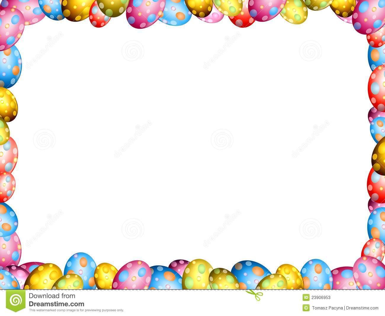 Easter Eggs Border Frame Stock Photos Image 23906953