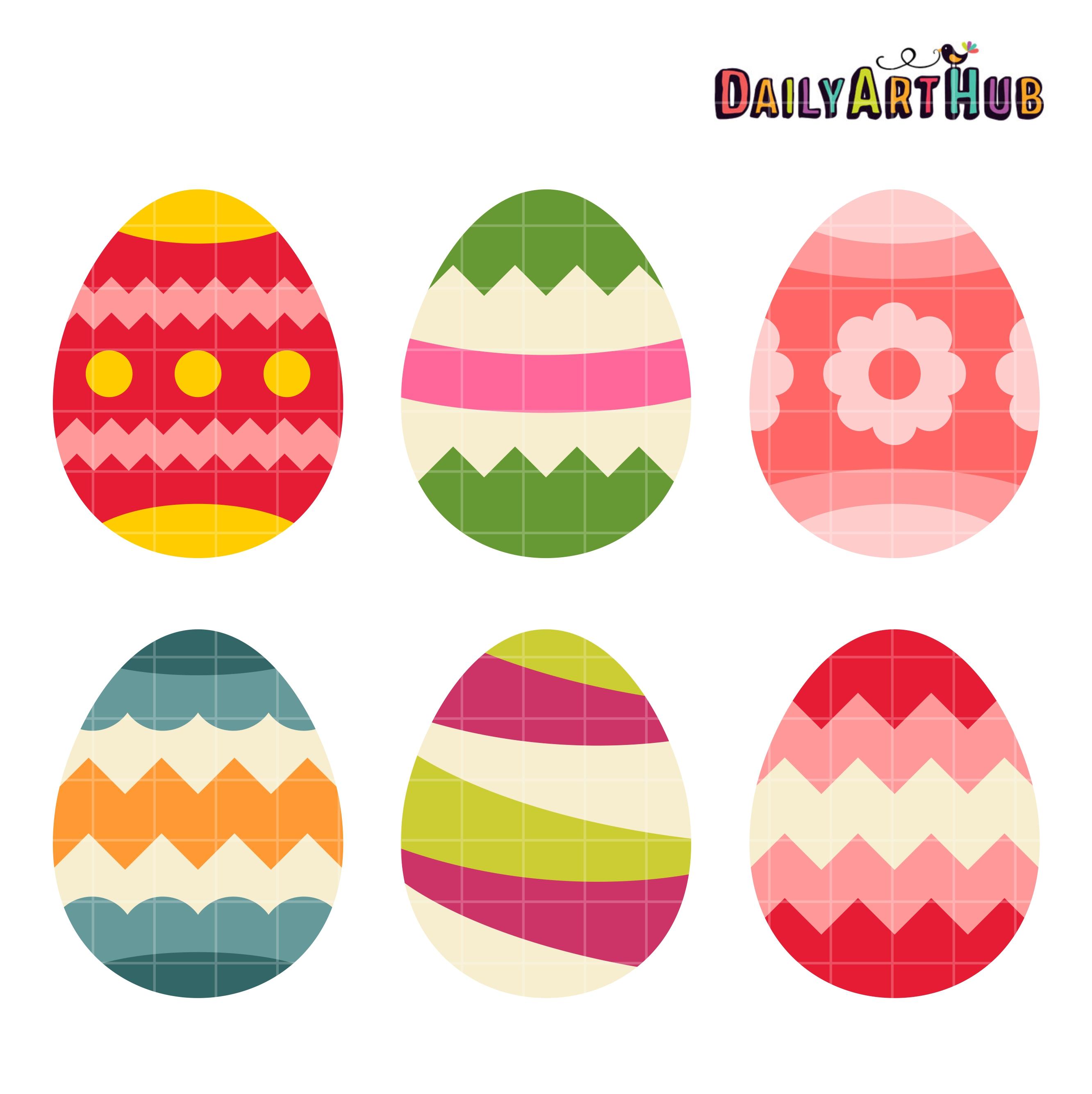 Easter Eggs Clip Art Set