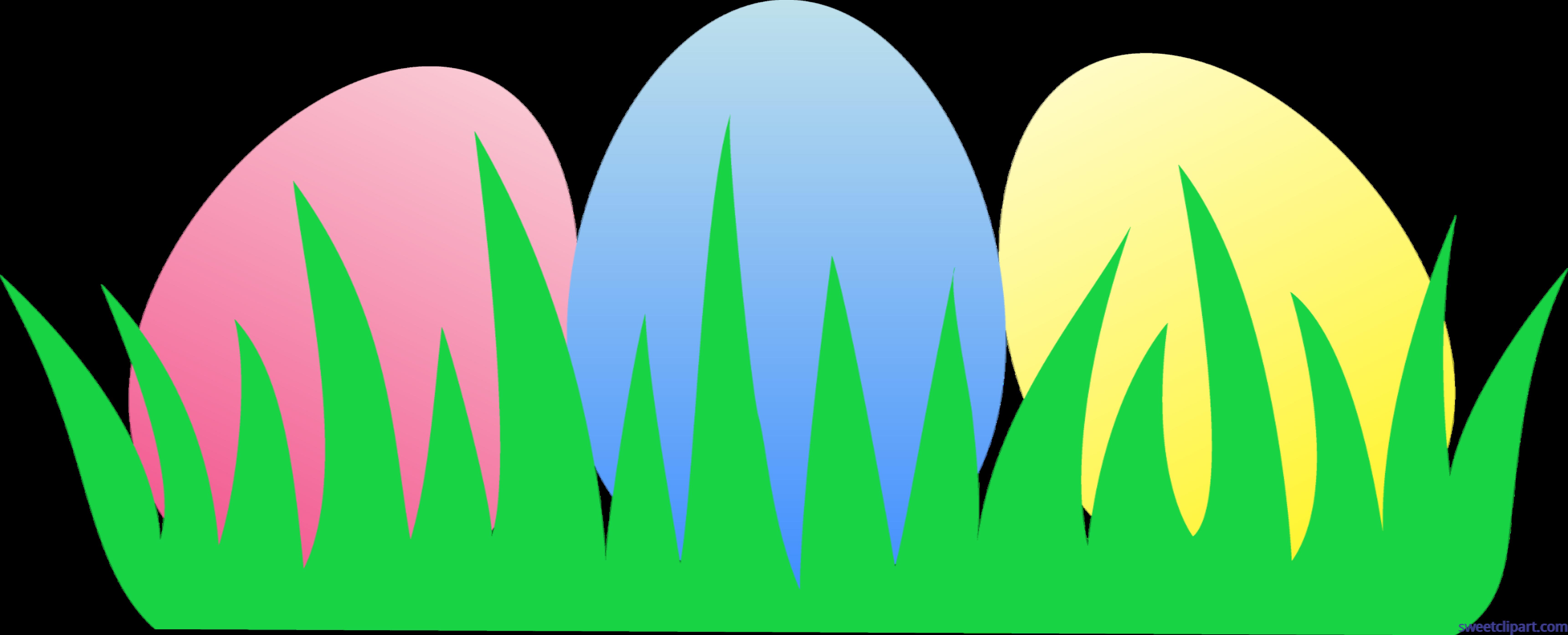 Easter Eggs Grass Clip Art