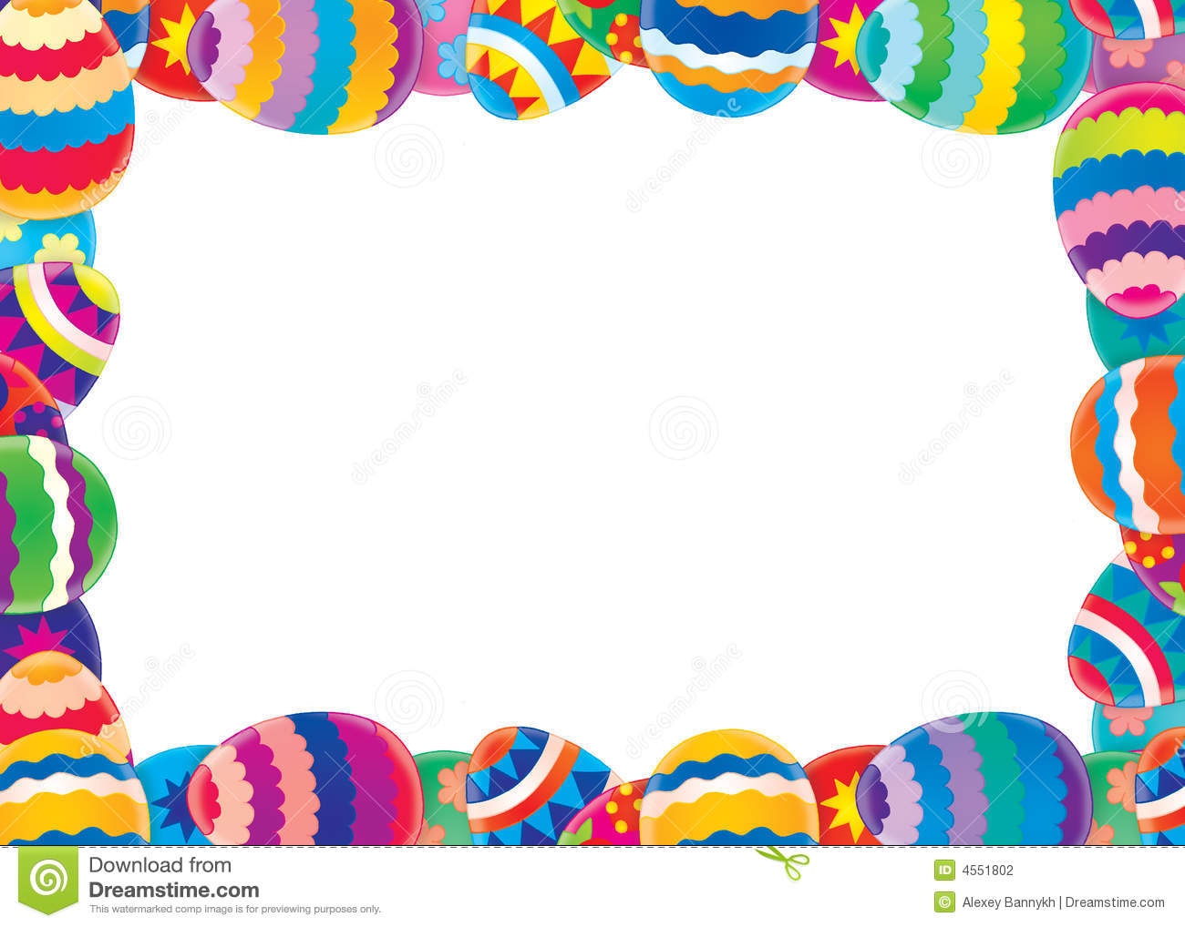Easter Holiday Border Clipart