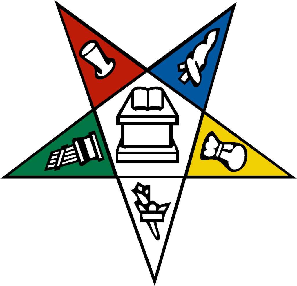 Eastern star emblem clip .