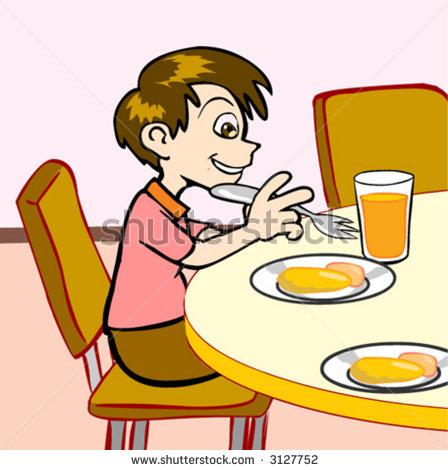 eating breakfast clipart