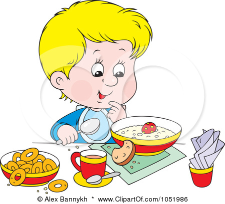 child eating healthy food clipart 5