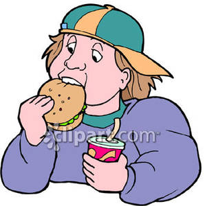 Eating Fast Food Clipart #1