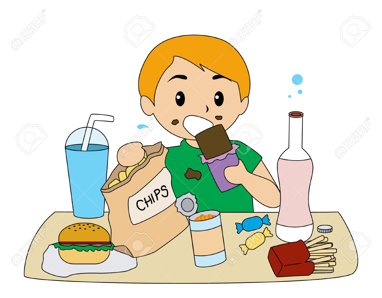 Healthy Snack Food Clipart #1