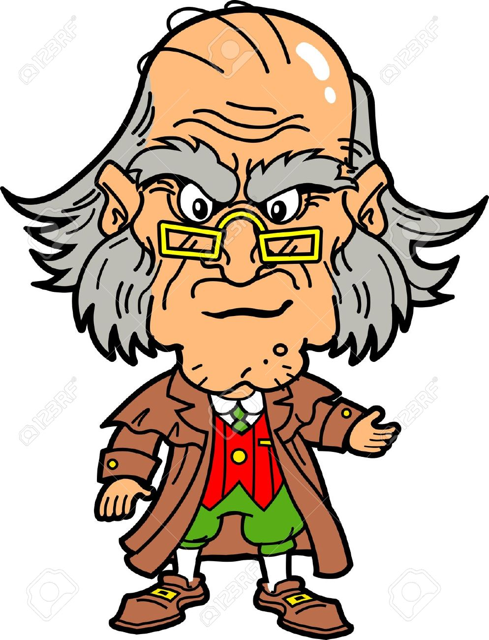 Ebenezer Scrooge Making an Angry Face at Christmas Stock Vector - 20685068