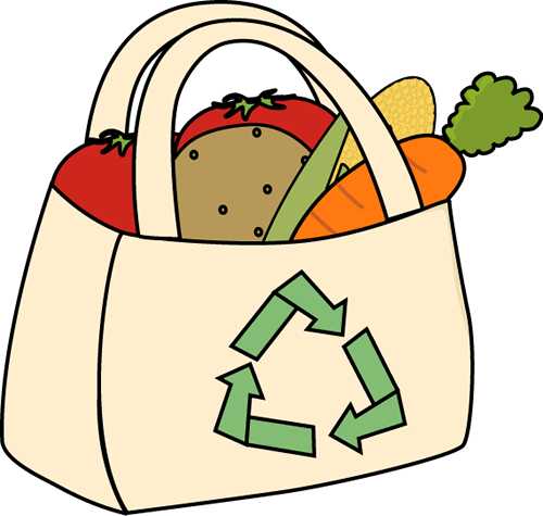 Eco Friendly Grocery Bag Clip Art - Eco Friendly Grocery Bag Image