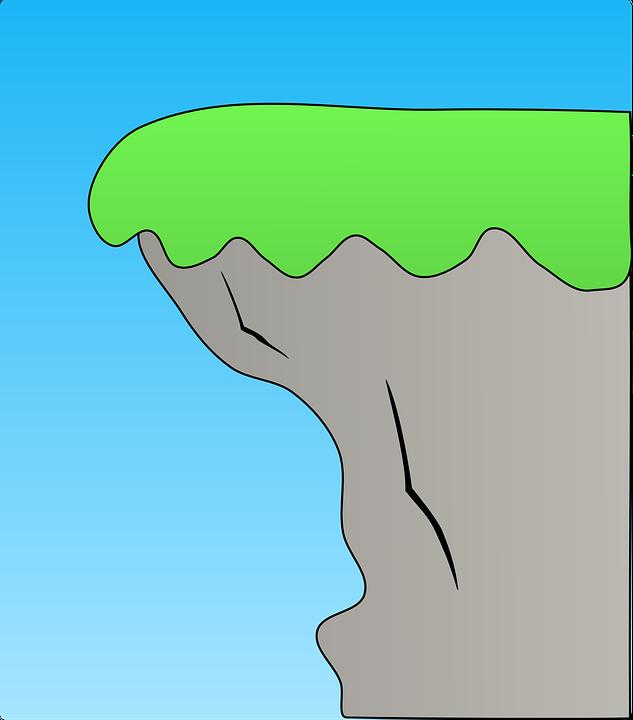 cliff coast ridge edge coastal grass green grey