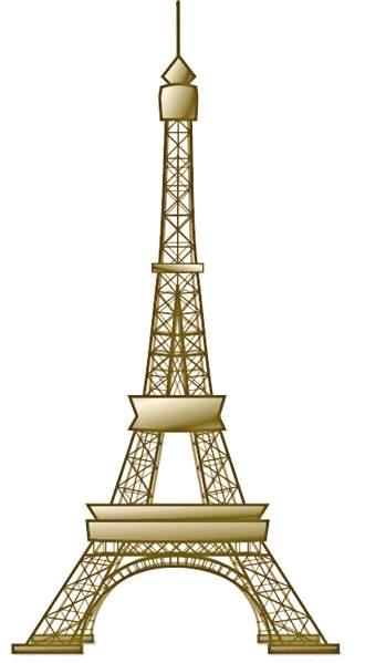 Eiffel tower clip art craft .