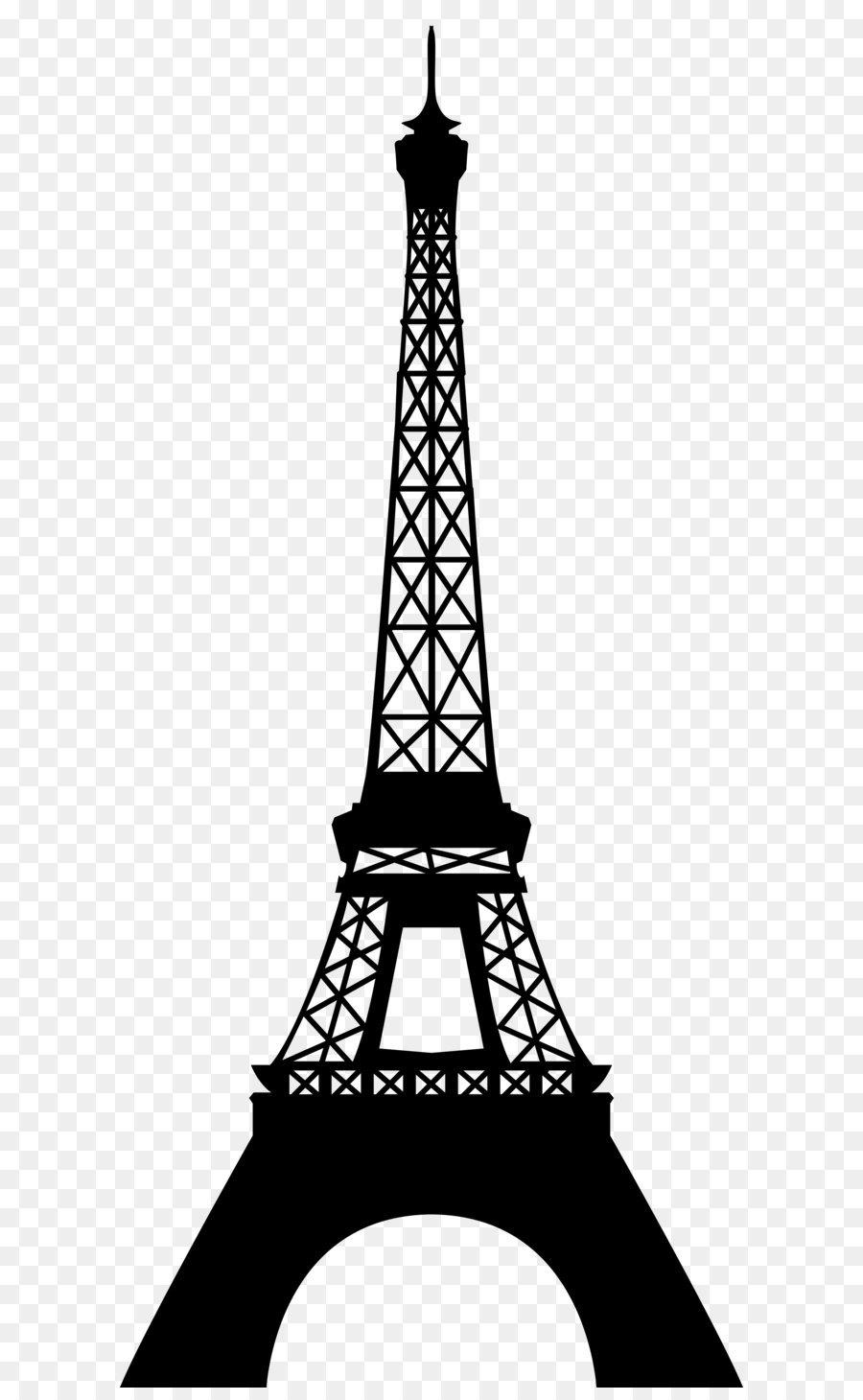 Eiffel Tower Clip art - Eiffel Tower Silhouette Transparent PNG Clip Art  Image