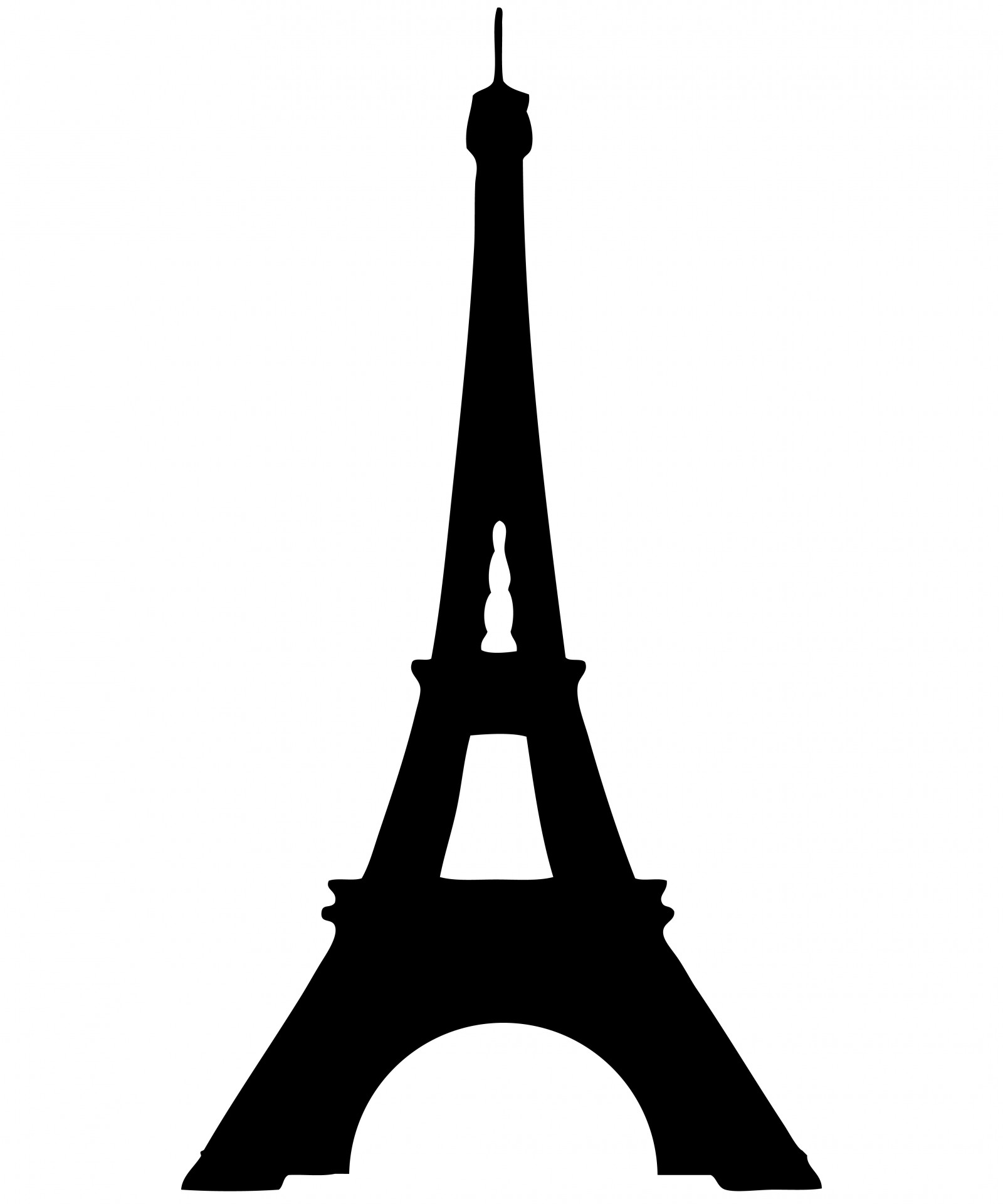 Eiffel Tower Silhouette Clipart