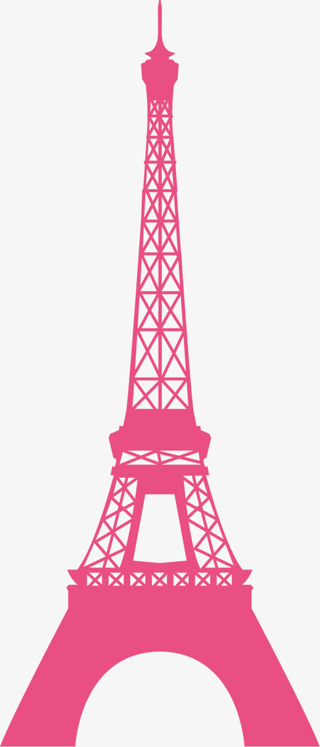 Pink Eiffel Tower Silhouette, Transmission Tower, Pink, Sketch PNG Image  and Clipart