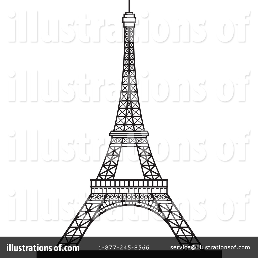 Royalty-Free (RF) Eiffel Tower Clipart Illustration by Lal Perera - Stock  Sample