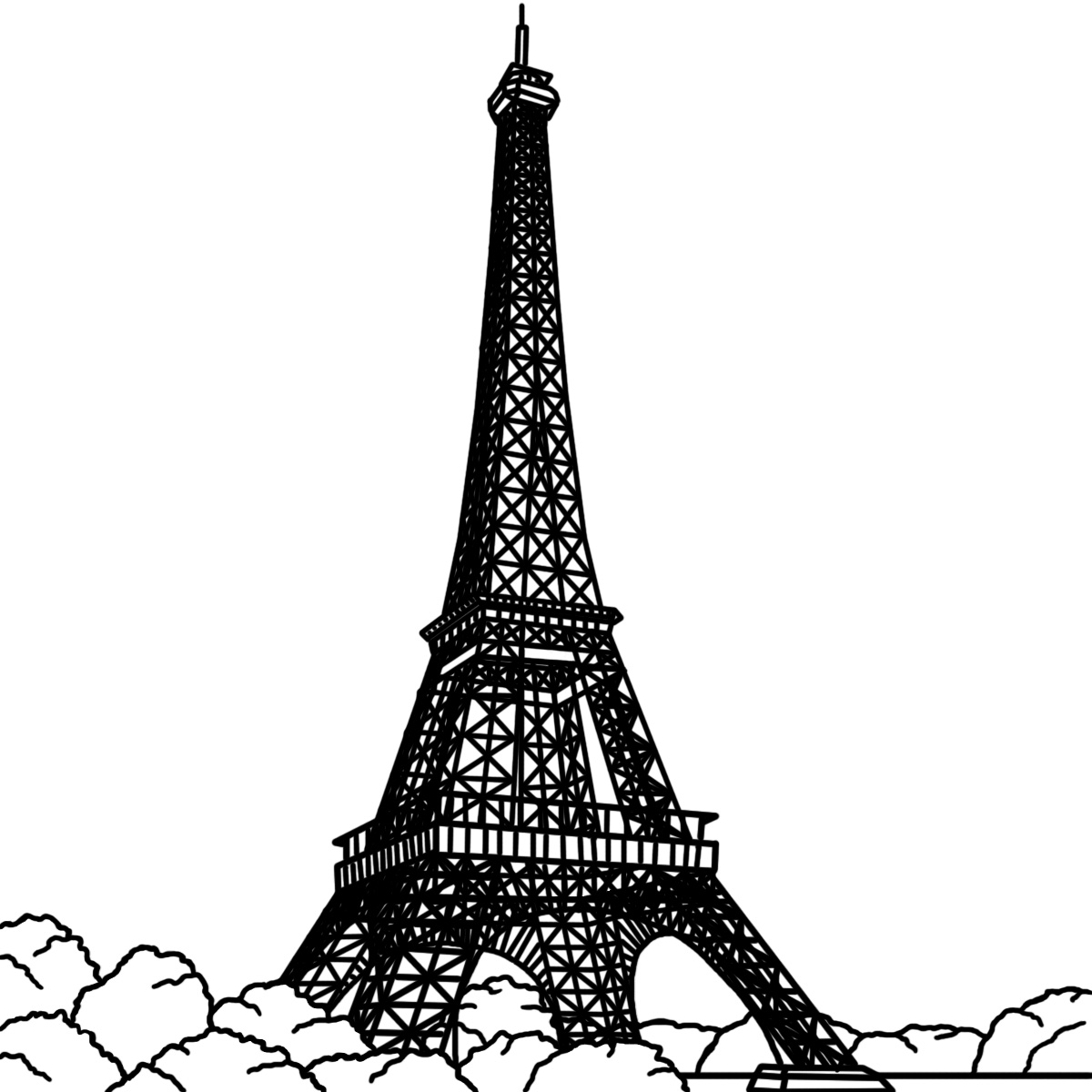 Eiffel tower paris tower clip art dromgfd top