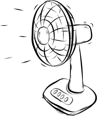 electric fan vector art .