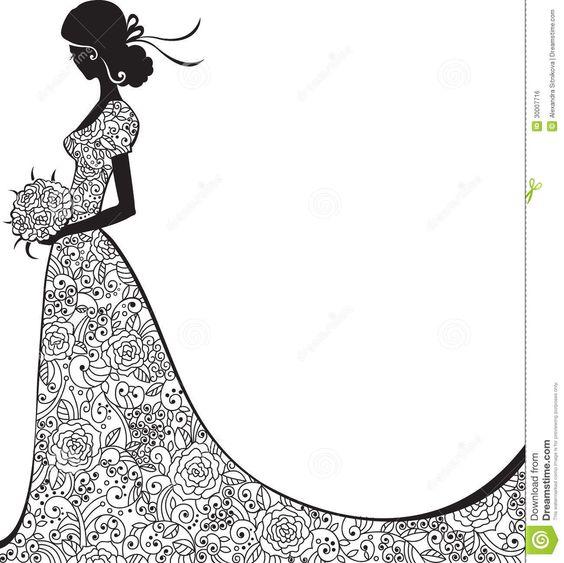 Elegant Bride Clipart | Wedding Concepts - visit here : http://getweddingconcepts.