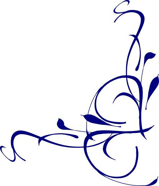 Elegant Swirl Designs Clip Art   Right Floral Swirl clip art - vector clip art online