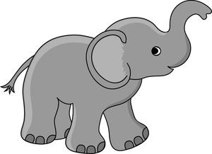 elephant clipart for kids