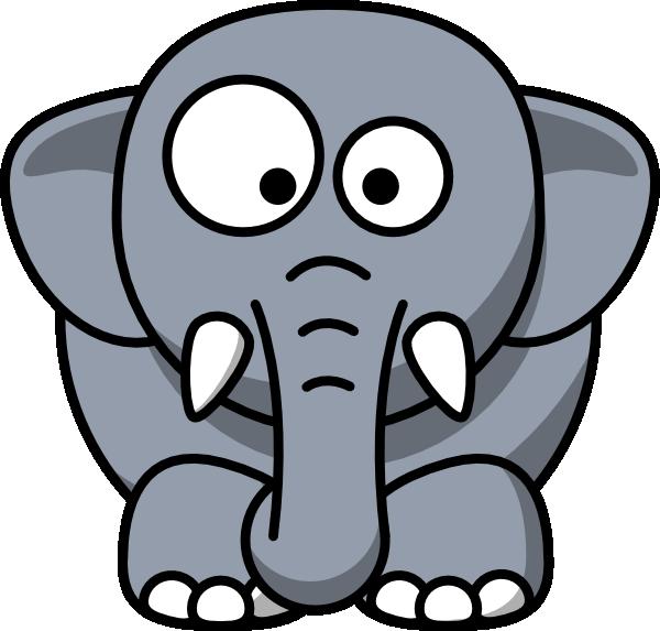 elephant clipart outline