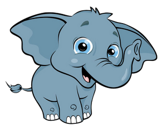 Elephant clip art black and white free clipart 5