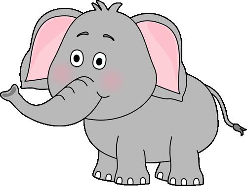 Cute Car Clip Art | Cute Elephant Clip Art Image - cute elephant with its  trunk up.