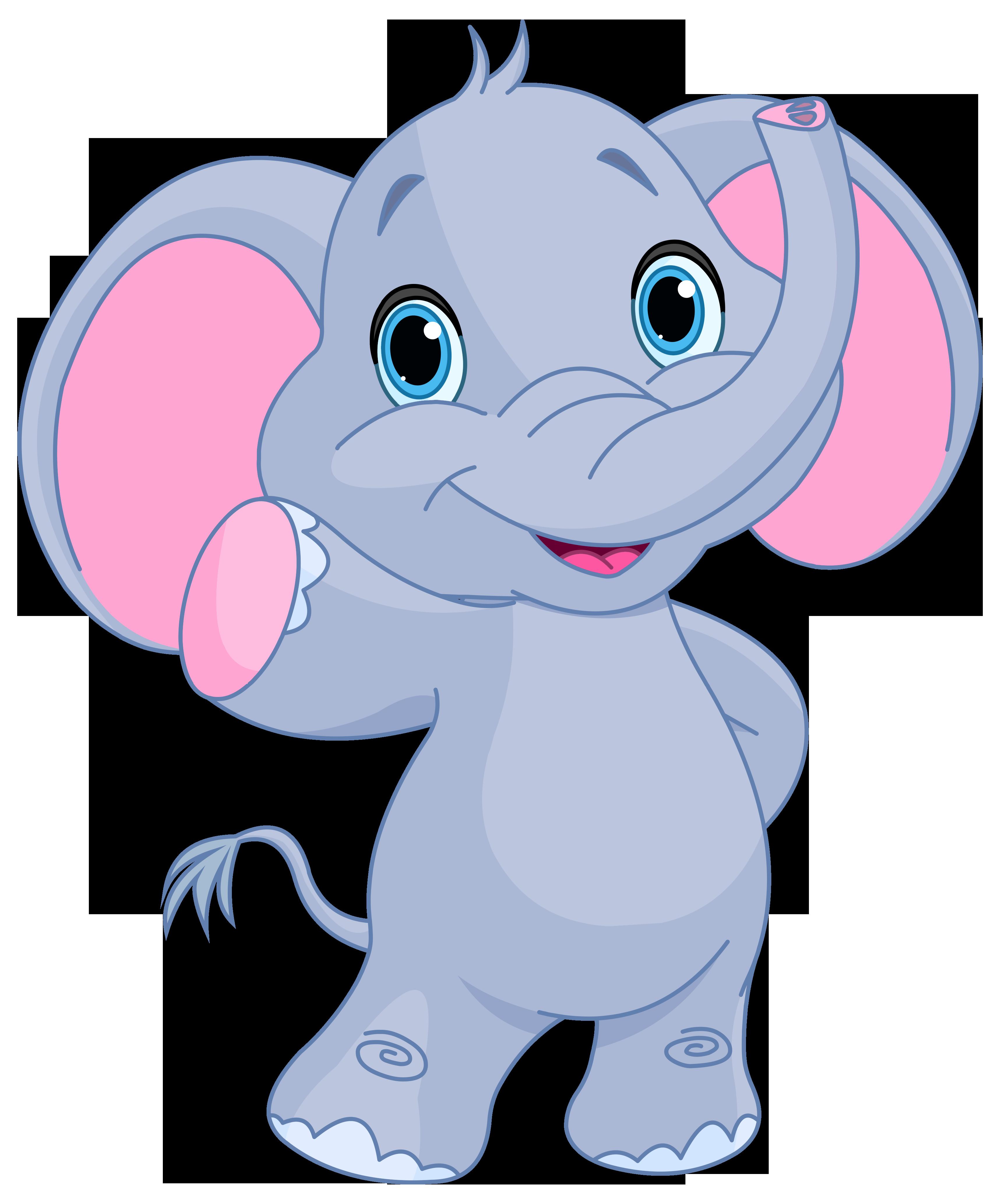 Cute elephant clipart image