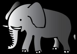 Cute Walking Elephant Clip Art