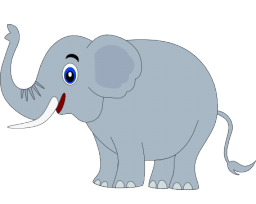 Happy Elephant Clipart #1