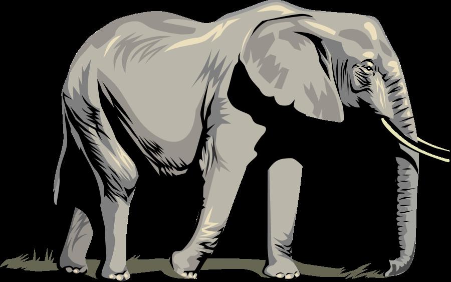 Elephant Clipart, vector clip art online, royalty free design