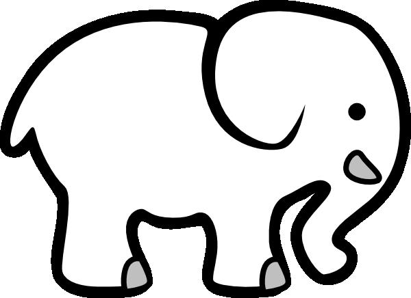 White Elephant Clipart #1