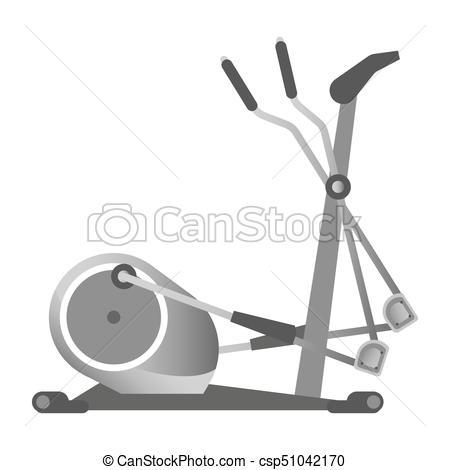 Gym Fitness Equipment Elliptical Trainer Exercise Machine Sport Club Vector  Icon