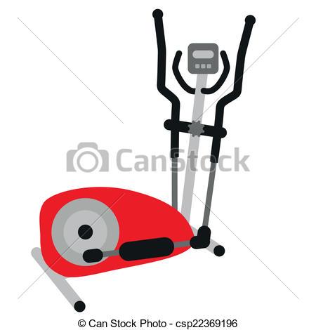 red elliptical cross trainer - csp22369196