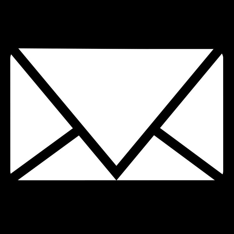 Email clipart black clipartsgram 2
