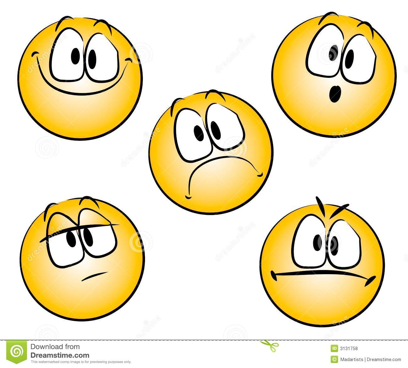 Emoticons Smileys Clip Art Royalty Free Stock Photos Image 3131758