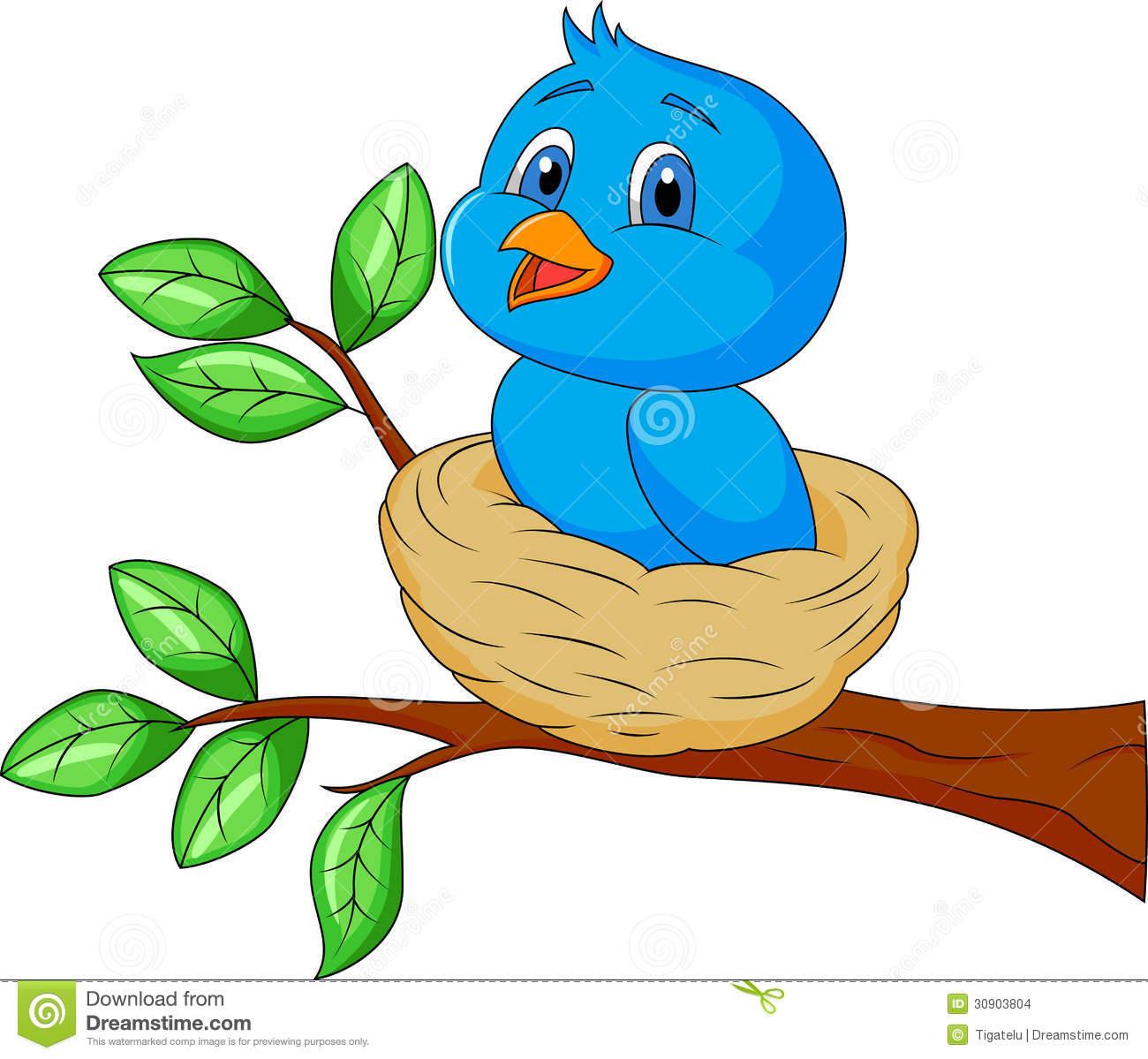 empty bird nest clipart
