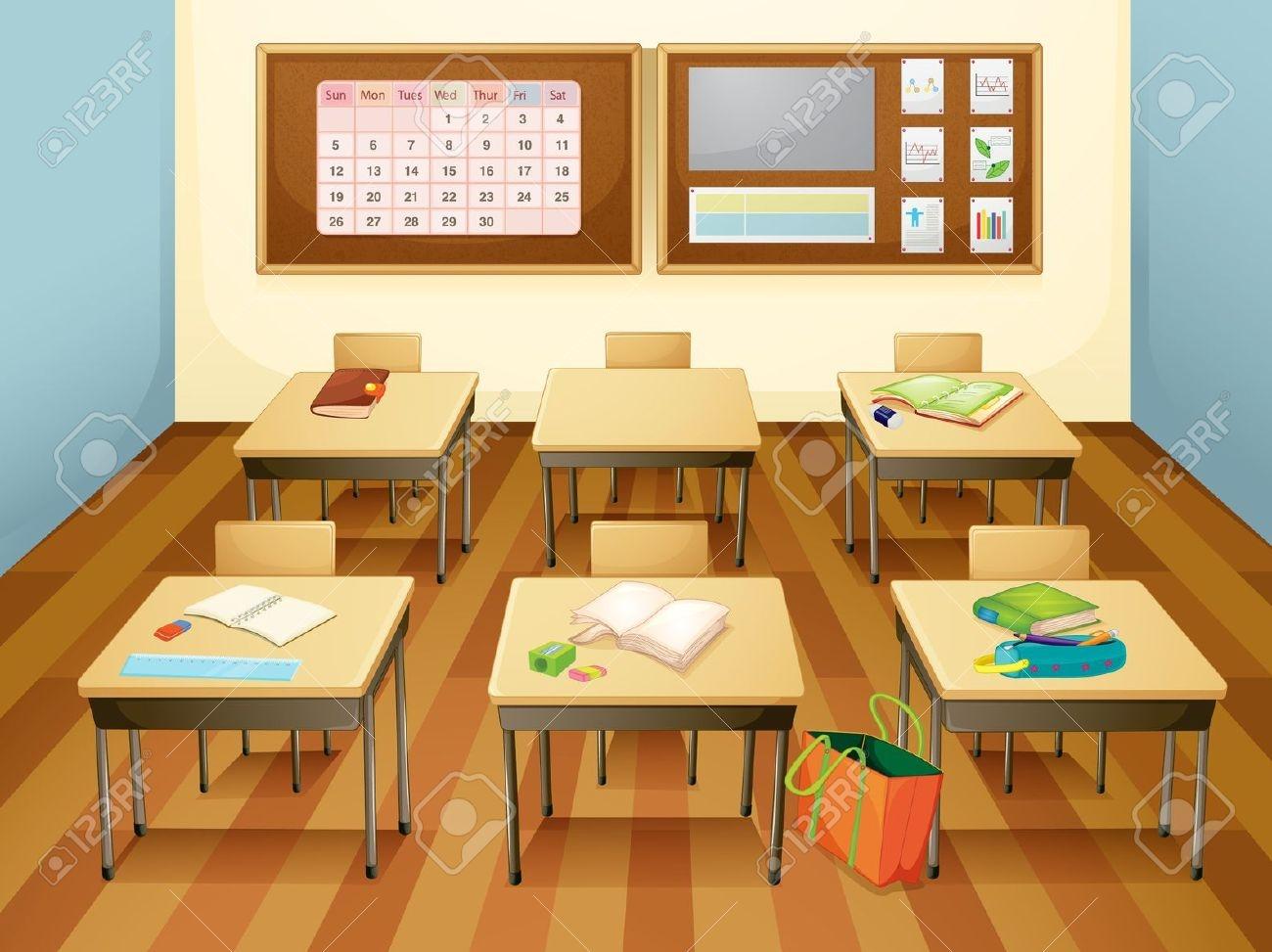 empty classroom: Illustration .