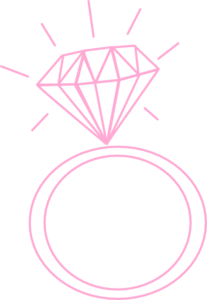 engagement ring clipart pink