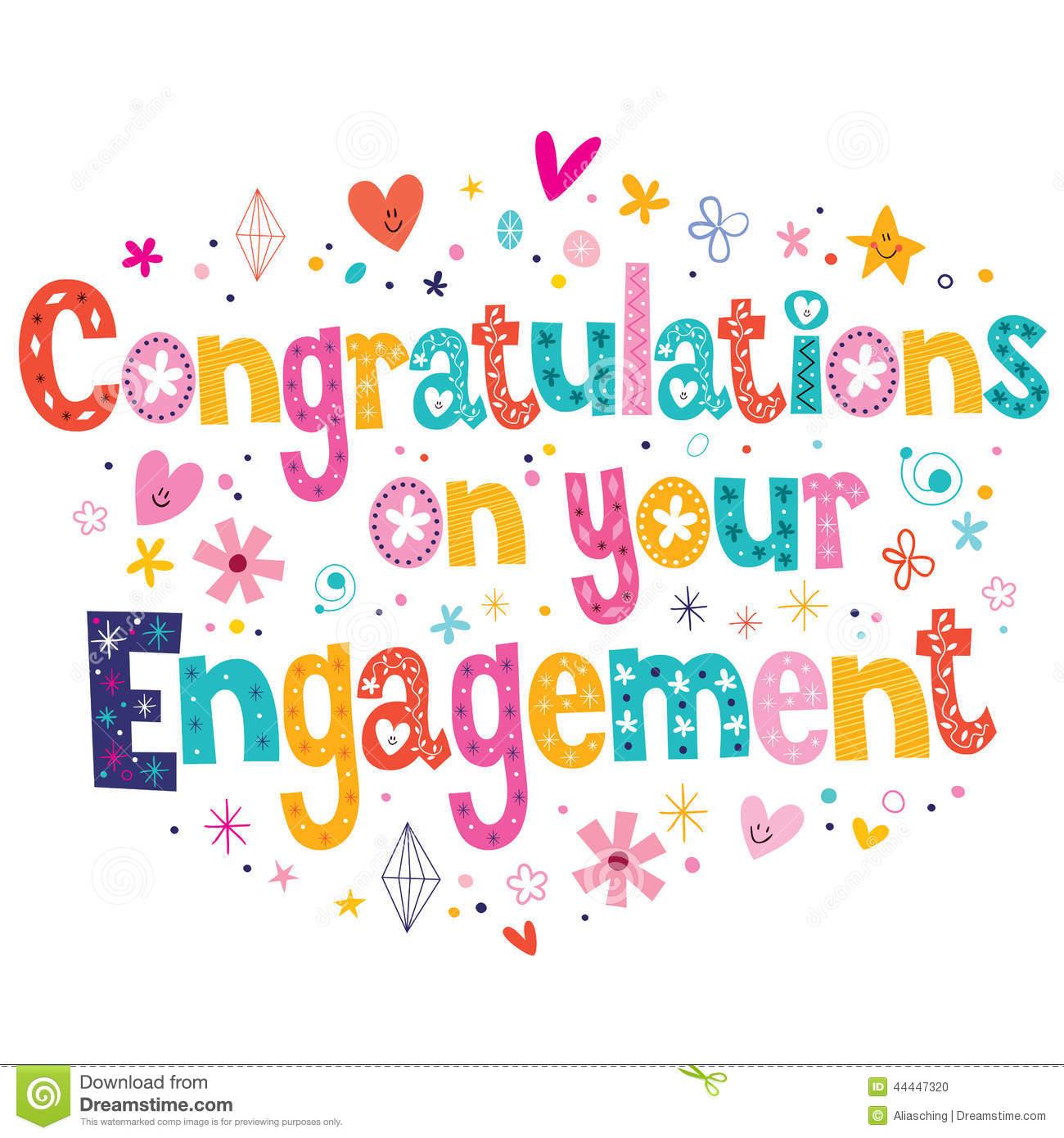 Engagement Congrats Clipart #1