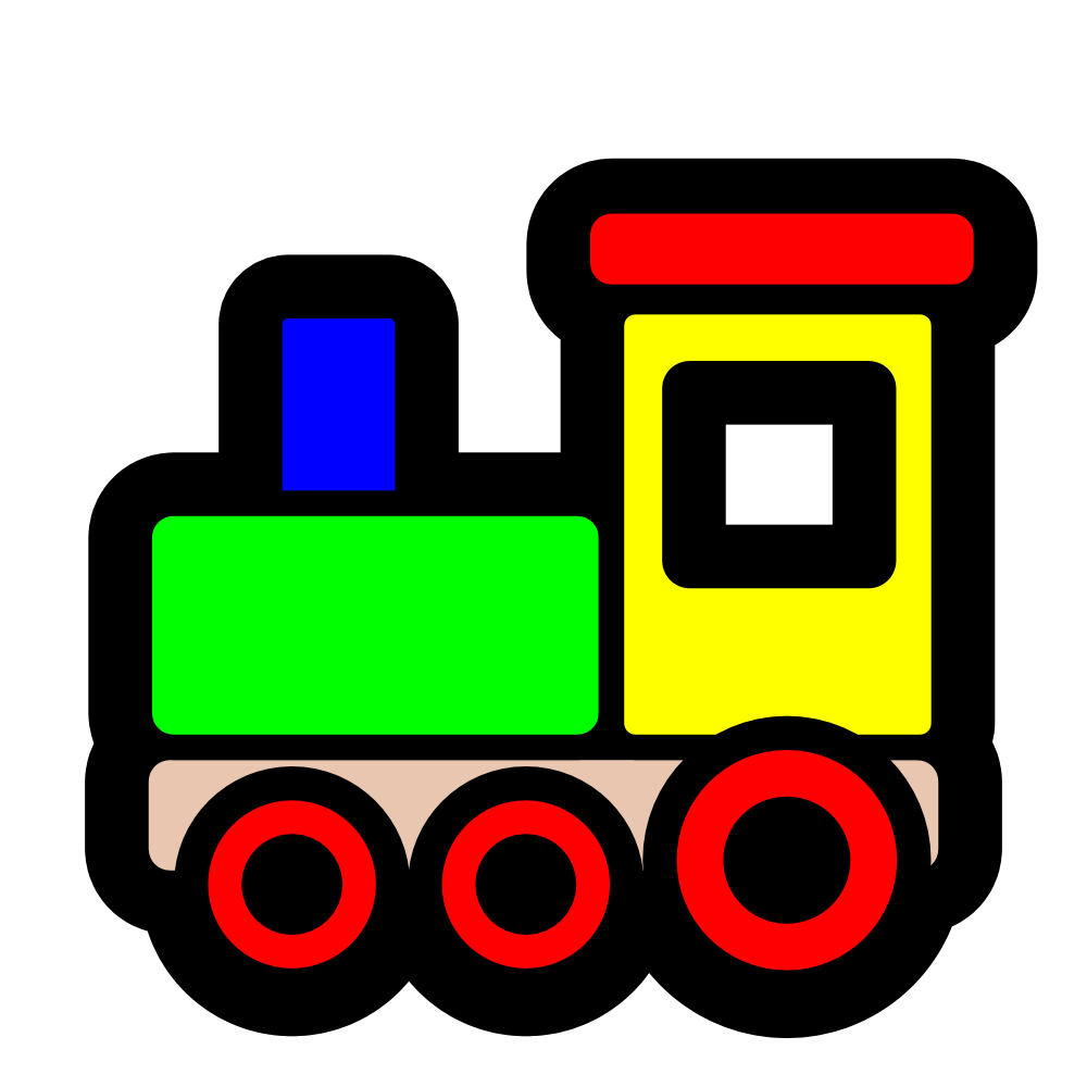 Blue Train Engine Clipart