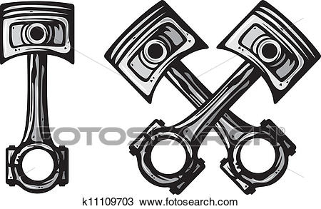 Clipart - crossed engine pistons . Fotosearch - Search Clip Art,  Illustration Murals, Drawings