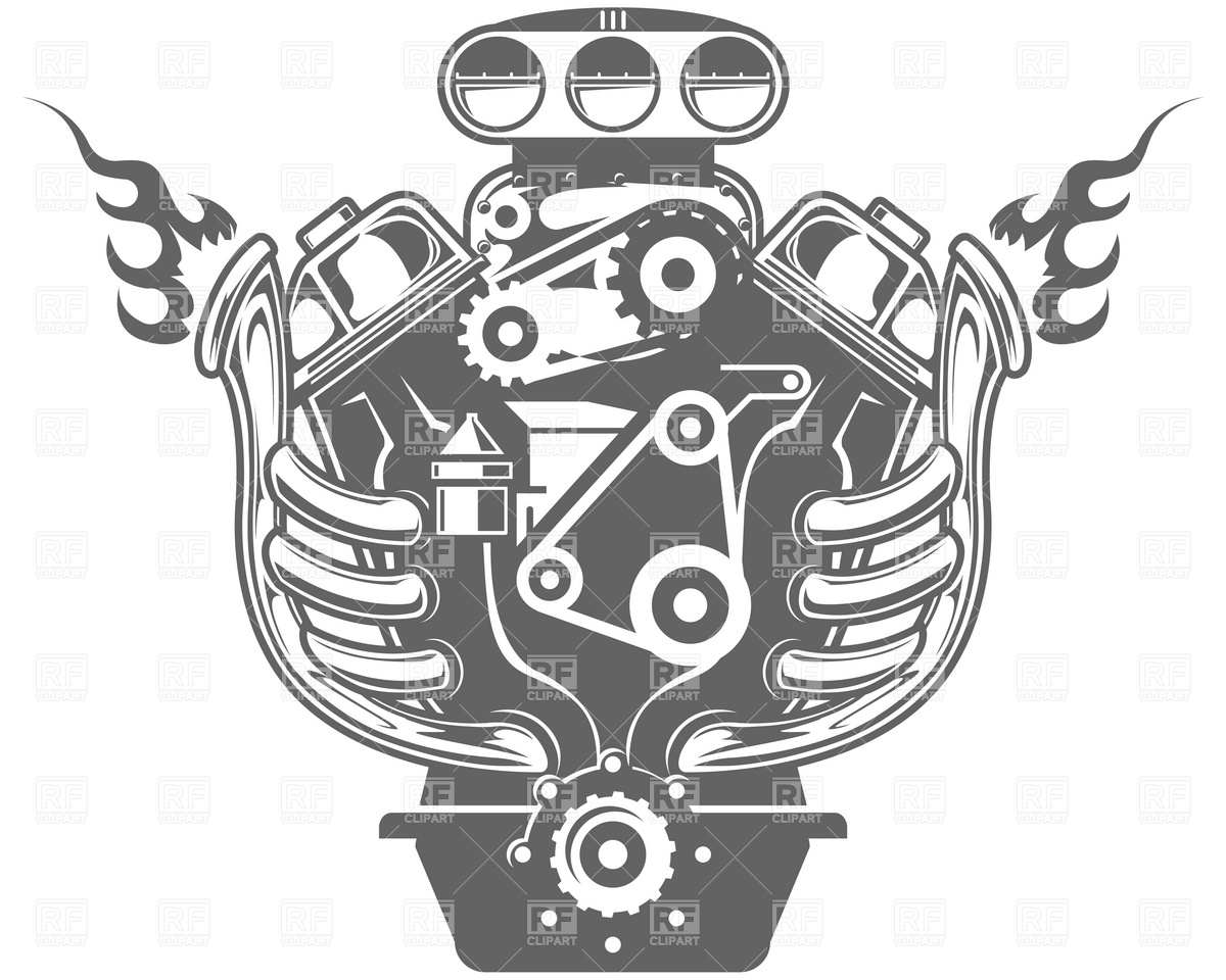 Racing engine - Engine Clipart