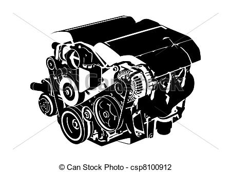 Vector Engine - Engine Clipart