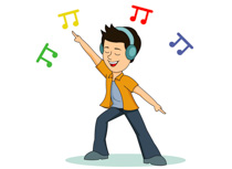 Enjoying Music And Dancing Clipart Size: 82 Kb