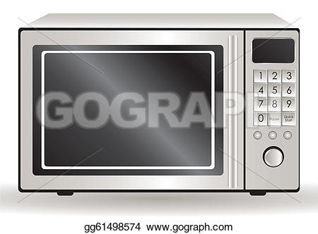 EPS Illustration - Illustration of a microwave, isolated on white background, vector illustration. Vector Clipart gg61498574